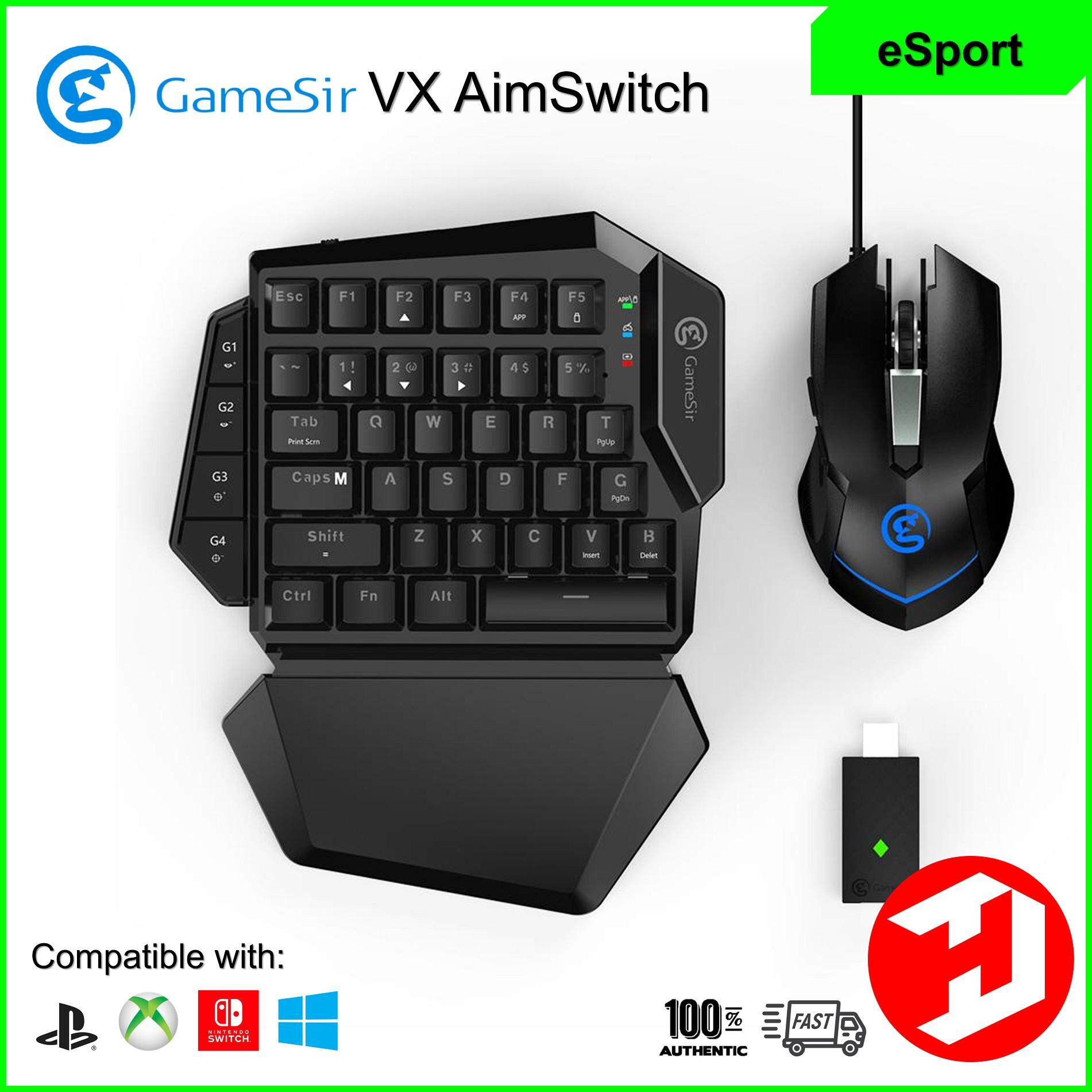[FAST SHIPPING] GameSir VX AimSwitch E-sports Gaming Input Adapter Combo  for PC & Consoles (SUPPORT PC / PS3 / PS4 / XBOX ONE / NINTENDO SWITCH)