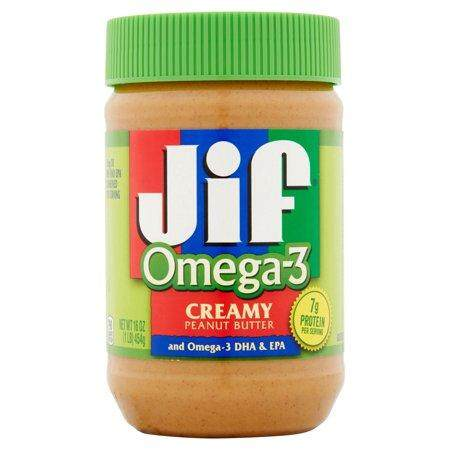 Jif Omega-3 Peanut Butter Creamy 454g - Usa By Tab Food Service.