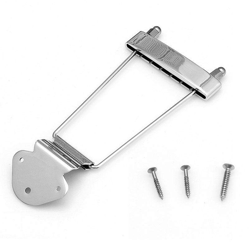 Chrome 6 String Guitar Tailpiece Trapeze Silvery Open Frame For Archtop Guitar Malaysia