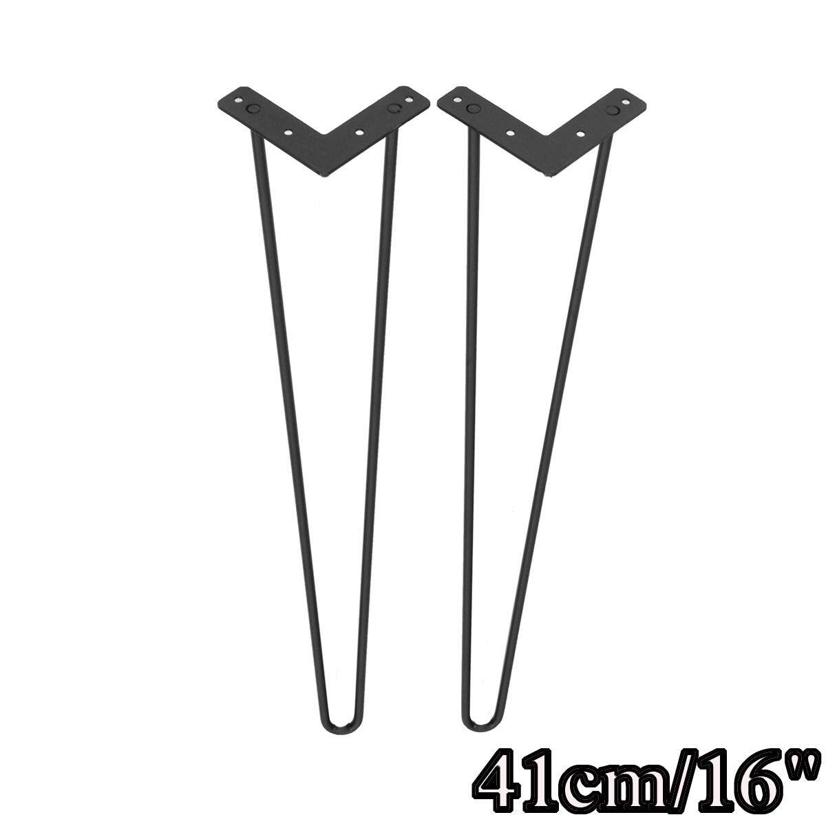 4Pcs Hairpin Table Legs Set 3 Rod Dining Table Bench Desk Steel Legs Size 21-71cm
