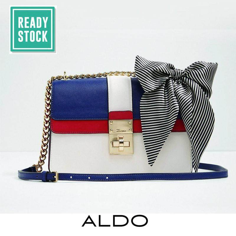 51a0996b8f7 AUTHENTIC ALDO SCARF-DETAILED SATCHEL (NAVY-MULTI)