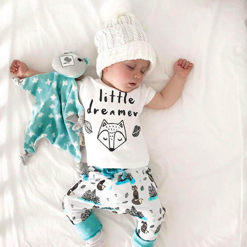 302eb1a41 Foctroes 2PC Newborn Infant Baby Girls Letter Printing Top T-shirt +Pants  Clothes Set