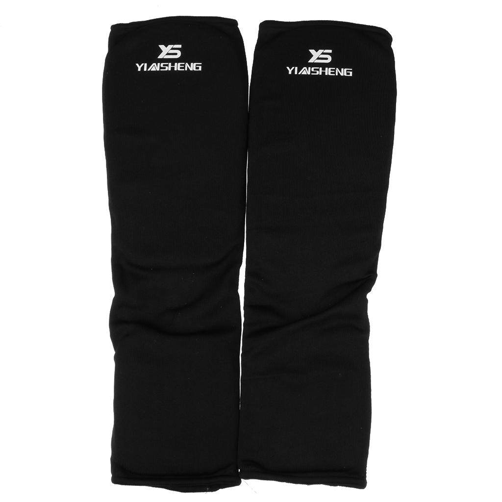 Flameer Taekwondo Karate Mma Shin Instep Protector Leg Foot Guard Cloth Pad L Black By Flameer.