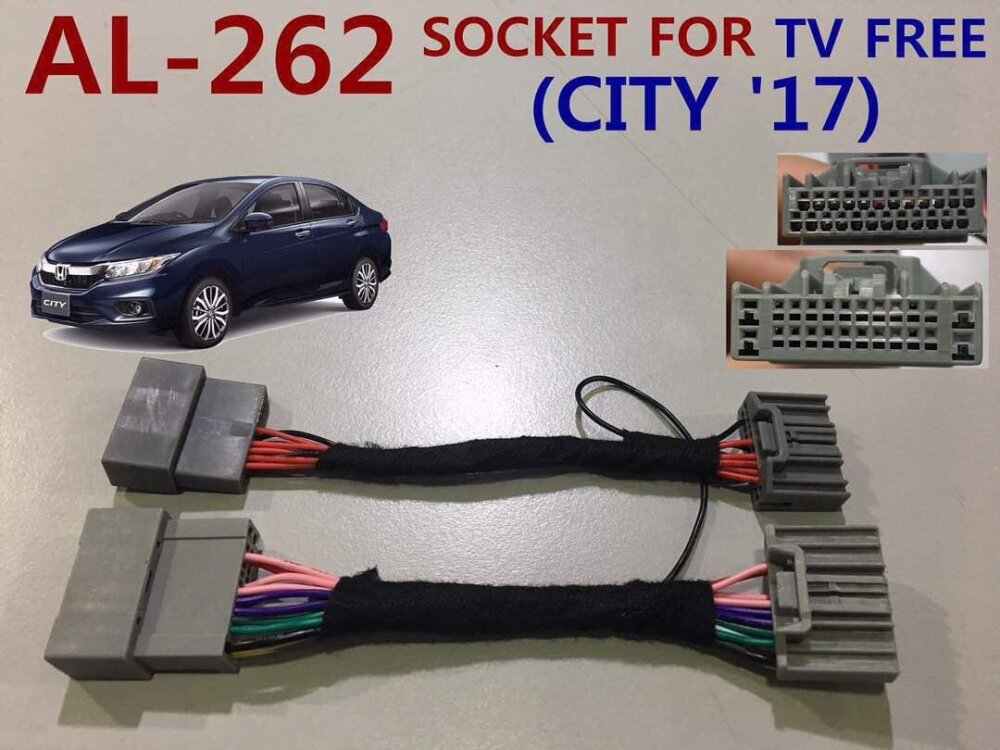 HONDA CITY 2017 ALLNEW TV FREE Park Brake ByPass Cable Video In Motion