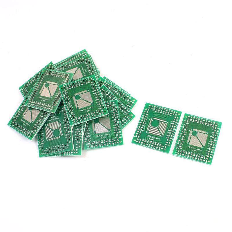 20pcs 0.5mm 0.8mm Tqfp(32-100) To 2.54mm Dip Smd Ic Pcb Adapter Socket By Shakeshake.