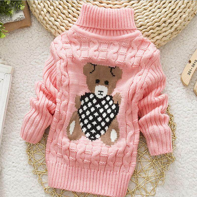2e451640a944c ❤️Cutiebaby Baby Toddler Girls Boys Warm Turtleneck Knit Sweater Pullover  Outwear Clothes