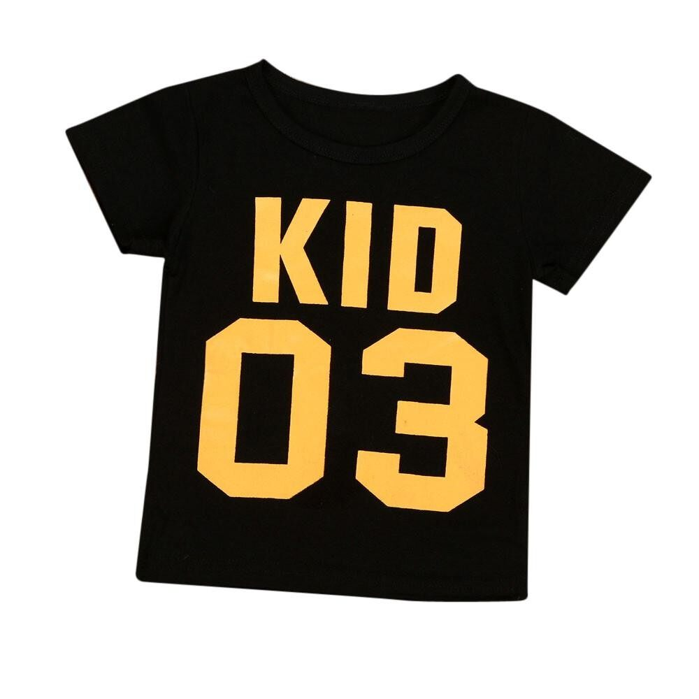 Tideshop Family Kids Clothes Baby Boys Girls Short Sleeve Letter Print T Shirt Outfits By Tideshop.