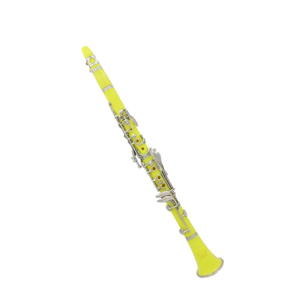 Miracle Shining LADE 17 Keys Bb Clarinet Musical Instrument Parts for Music Lovers Yellow