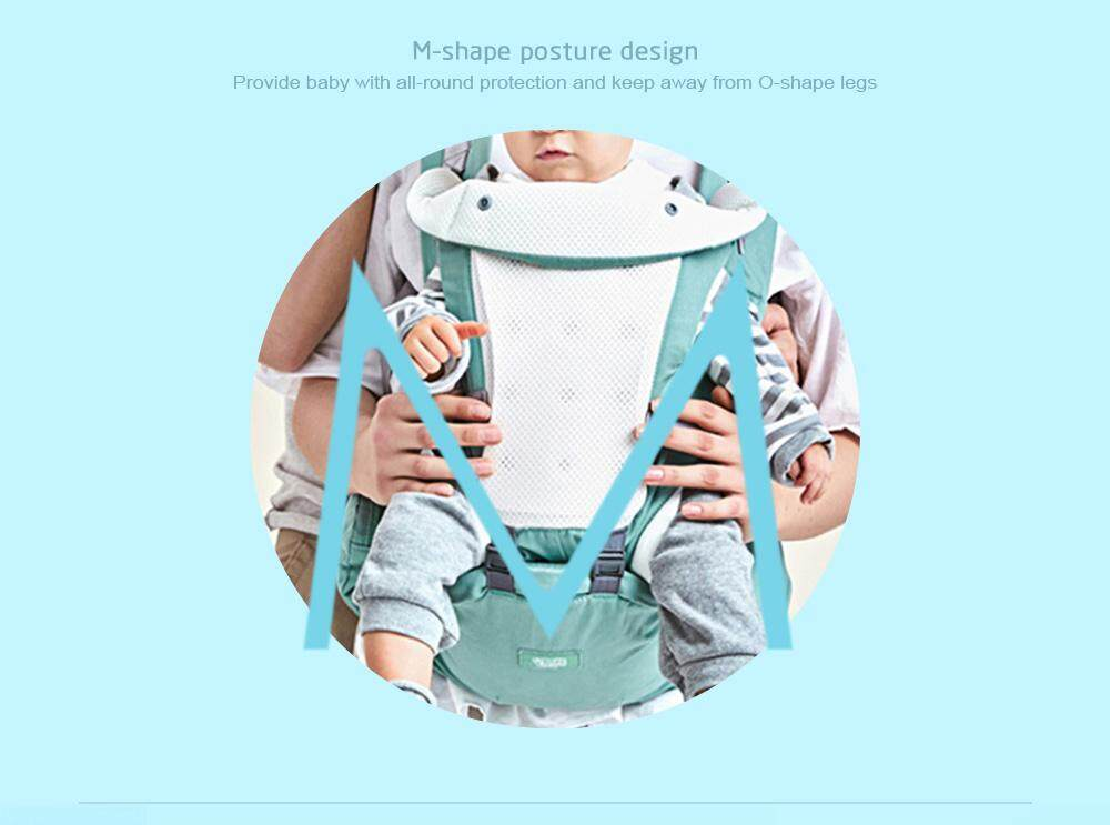 Bethbear Hipseat Newborn 4 in 1 Ergonomic Baby Carrier Kid Sling Backpack