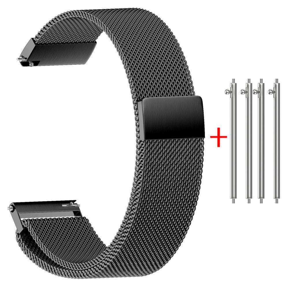 Free shipping Naponie Milanese Magnetic Loop Stainless Steel Watch Strap Bands 22/20/18/16/14MM Malaysia