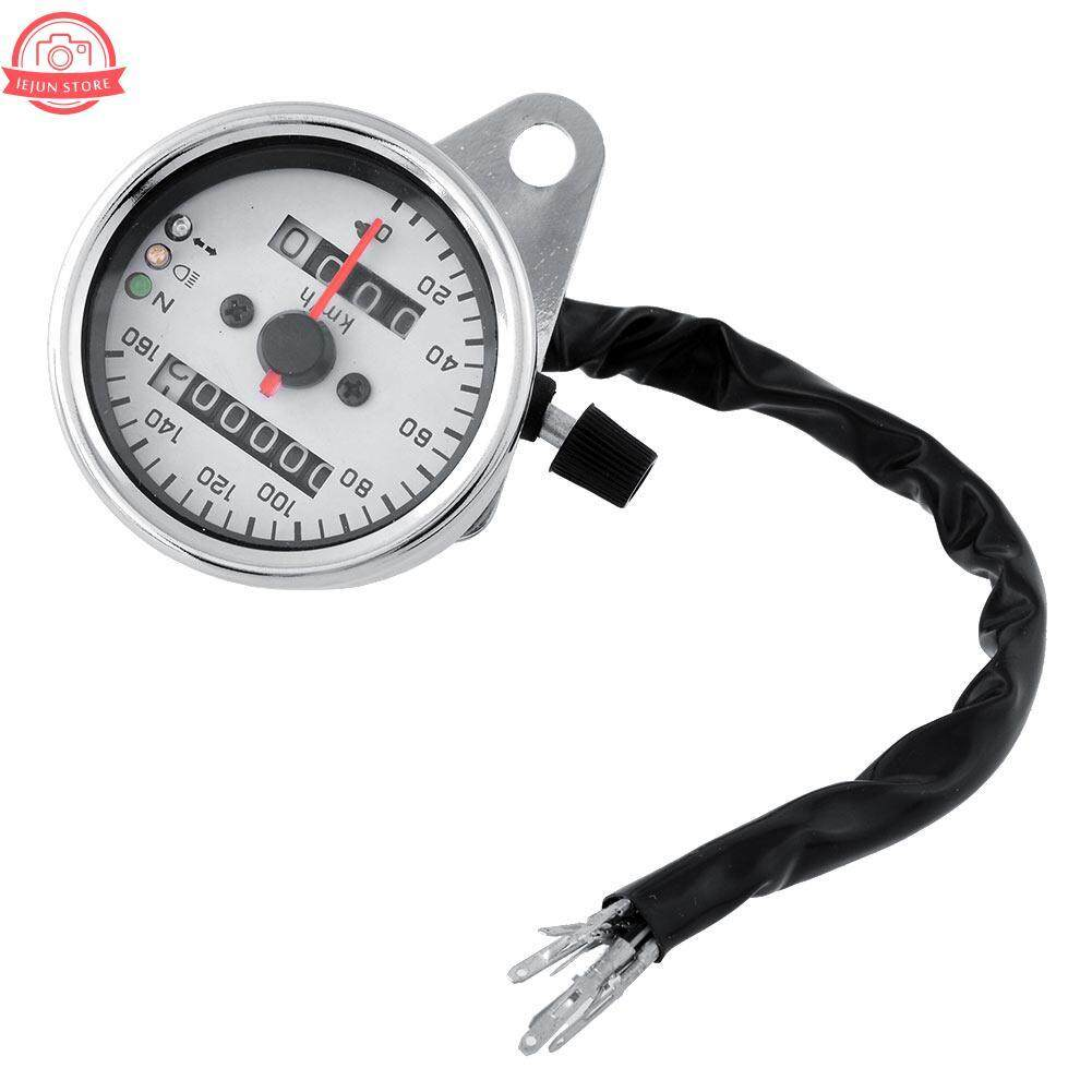 New Motorcycle Motor Dual Speedometer Gauge Led Backlight Background 12v White By Lejun Store.