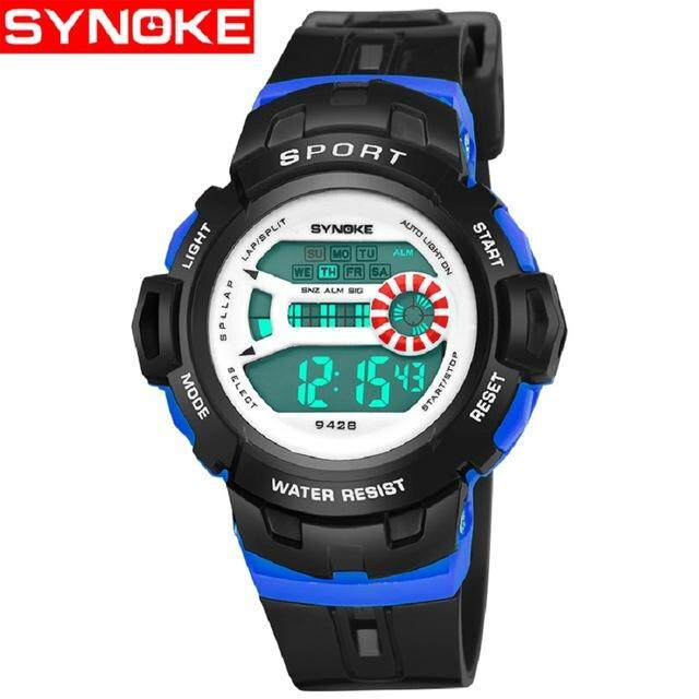 SYNOKE Brand Watch Sport LED Digital Wrist Watches for Boy Girl saat Calendar 30M Water Resistant Alarm Children Stopwatch Pink  9428 Malaysia