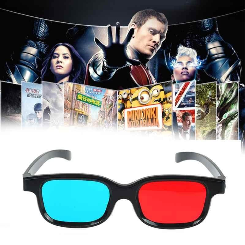Ljan 1x Black Frame Red Blue 3d Glasses For Dimensional Anaglyph Movie Game Dvd By Ljan.