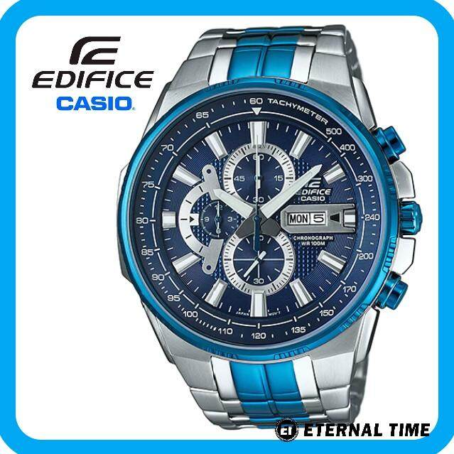 (2 YEARS WARRANTY) CASIO ORIGINAL EDIFICE EFR-549BB-2AV CHRONOGRAPH MEN'S WATCH