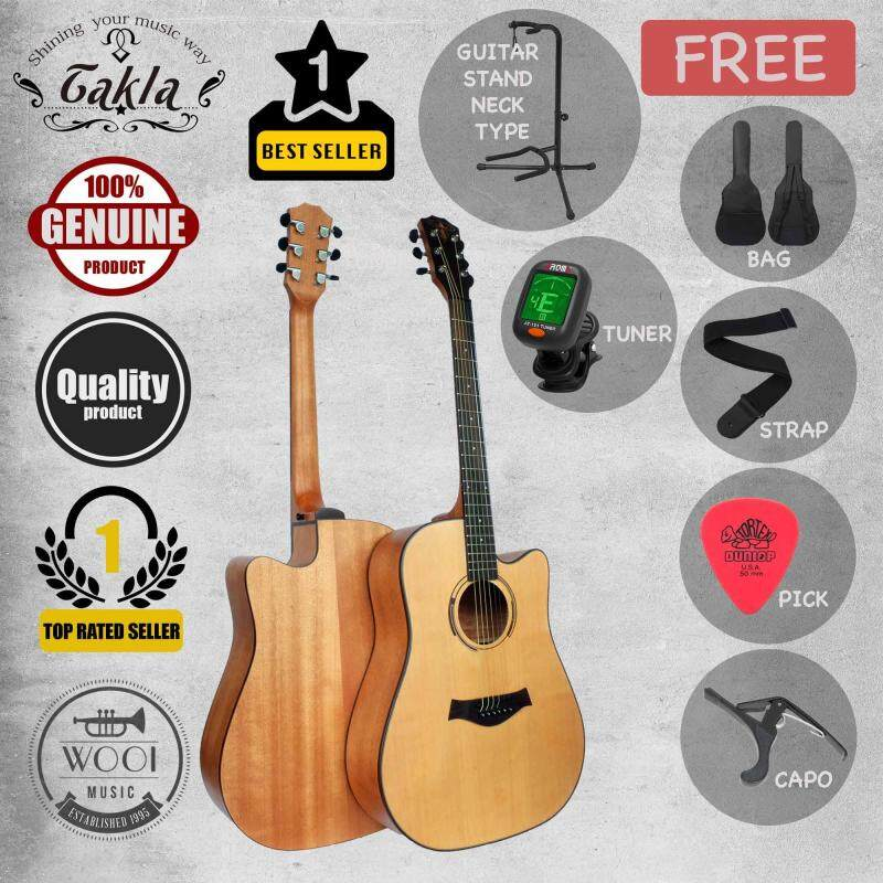 Takla M320 Acoustic Guitar 41 With Fishman Presys 101 EQ (FREE Bag, Picks, Strap, Tuner, Capo & Neck Type Stand) Malaysia
