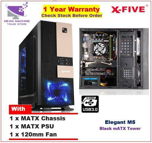 #X-Five Elegant M5 MATX Chassis ( MATX PSU + 12cm Fan Included)# Malaysia