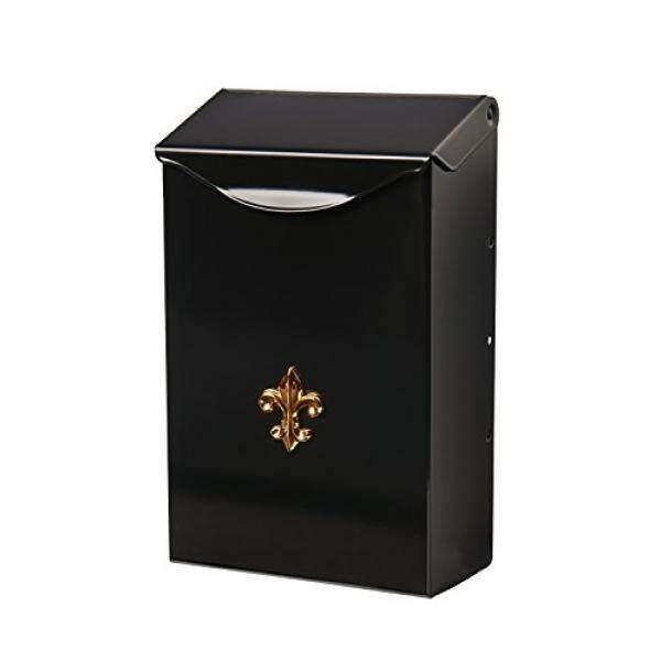 Gibraltar Mailboxes Classic Capacity Galvanized Steel Black, Wall-Mount Mailbox, BW110000