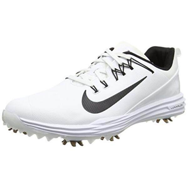 buy online cb468 afecc NIKE Mens Lunar Command 2 Golf Shoe, White Black White, 9.5 M