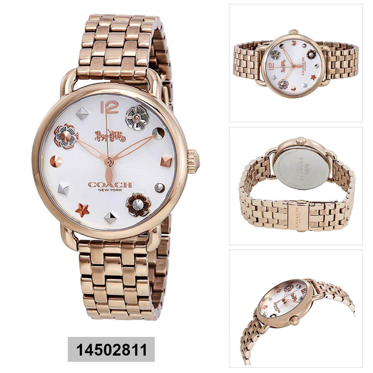 Coach Coach Delancey Gold Stainless-Steel Case Stainless-Steel Bracelet Ladies 14502811 Malaysia