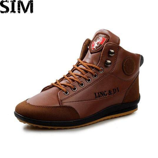 SIM Men s Fashion Winter Wool warm Sport Lace up Ankle Boots Shoes 80a8c818b604