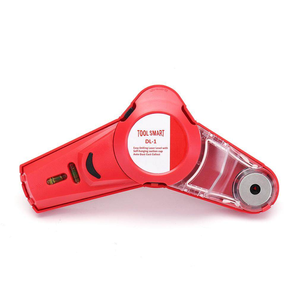 【Free Shipping】Drillpro 650nm Laser Level Tools Infrared Laser Level Locator Easy Drilling Dust Collector