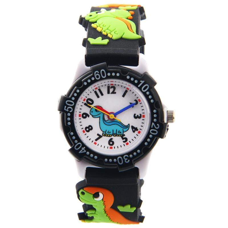 WILLIS Kids Time watch Pattern Plastic Shell Silicone Strap Cartoon Watch Black Malaysia