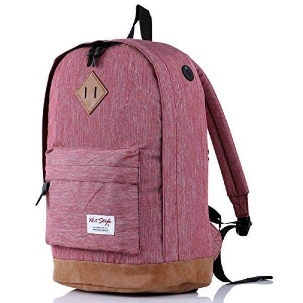 936Plus College School Backpack Travel Rucksack  Fits 15.6 Laptop  18x12x6  VioletRed Malaysia