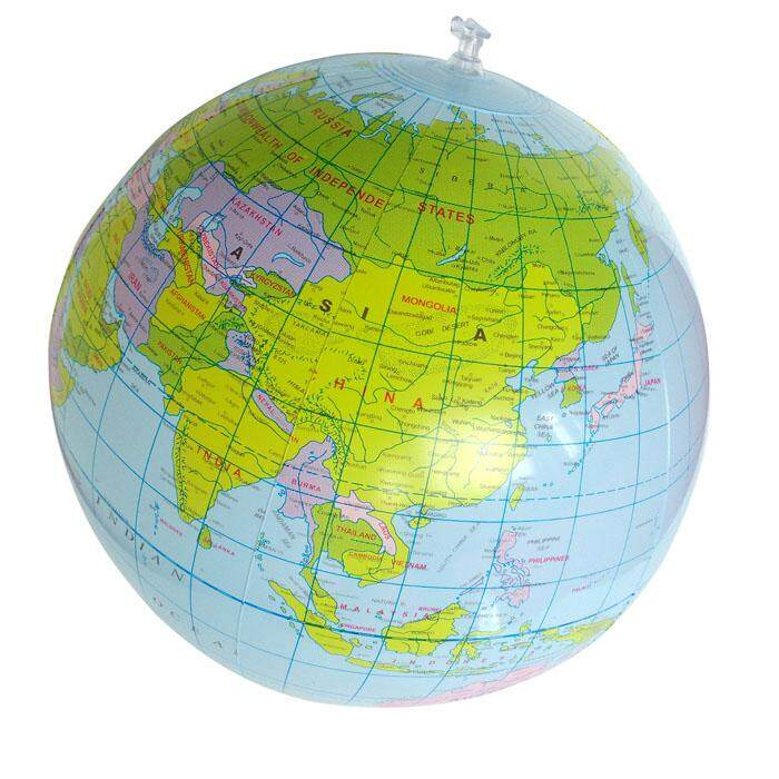 Buy at best price in malaysia lazada inflatable globe education geography toy map balloon beach ball 40cm blue gumiabroncs Choice Image