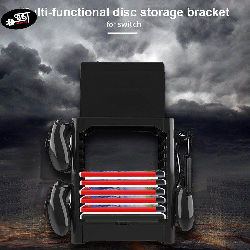 Ybc Multifunction Game Disk Storage Tower Cds Controllers Holder Shelf For Nintendo Switch Console By Your Bestchoice.