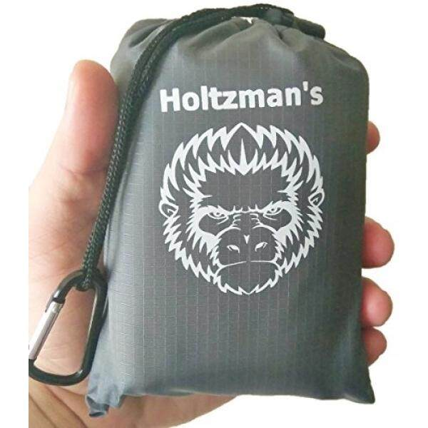 Holtzmans Mini Pocket Blanket For Hiking Picnic Beach Camping Ultralight & Compact (Grey)