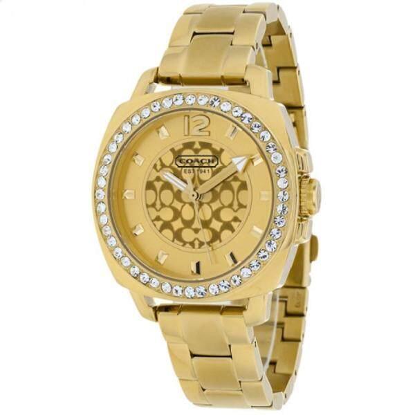 Coach Womens Mini Boyfriend Gold Crystal Glitz Watch 14501700 Malaysia