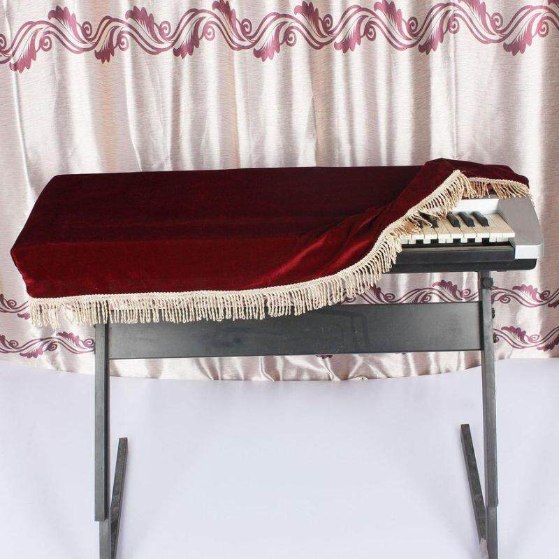 OBBB 1PC Piano Protective Cover Soft Piano Keyboard Cover for 61-Key Electronic Piano Indoor Soft Velvet Pleuche Design Malaysia