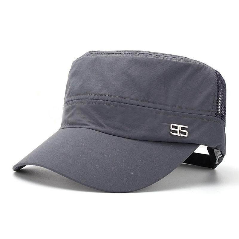 Men Half Mesh Plain Adjustable Trucker Cap Baseball Visor Sport Hat d9d19ece8c83