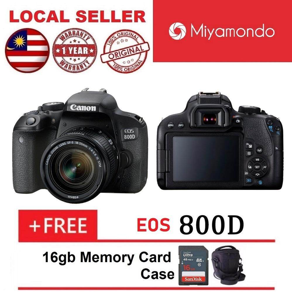 Canon Cameras Dslrs Slrs Price In Malaysia Best Dslr Eos 750d 800d With 18 55mm Lens 16gb Bag