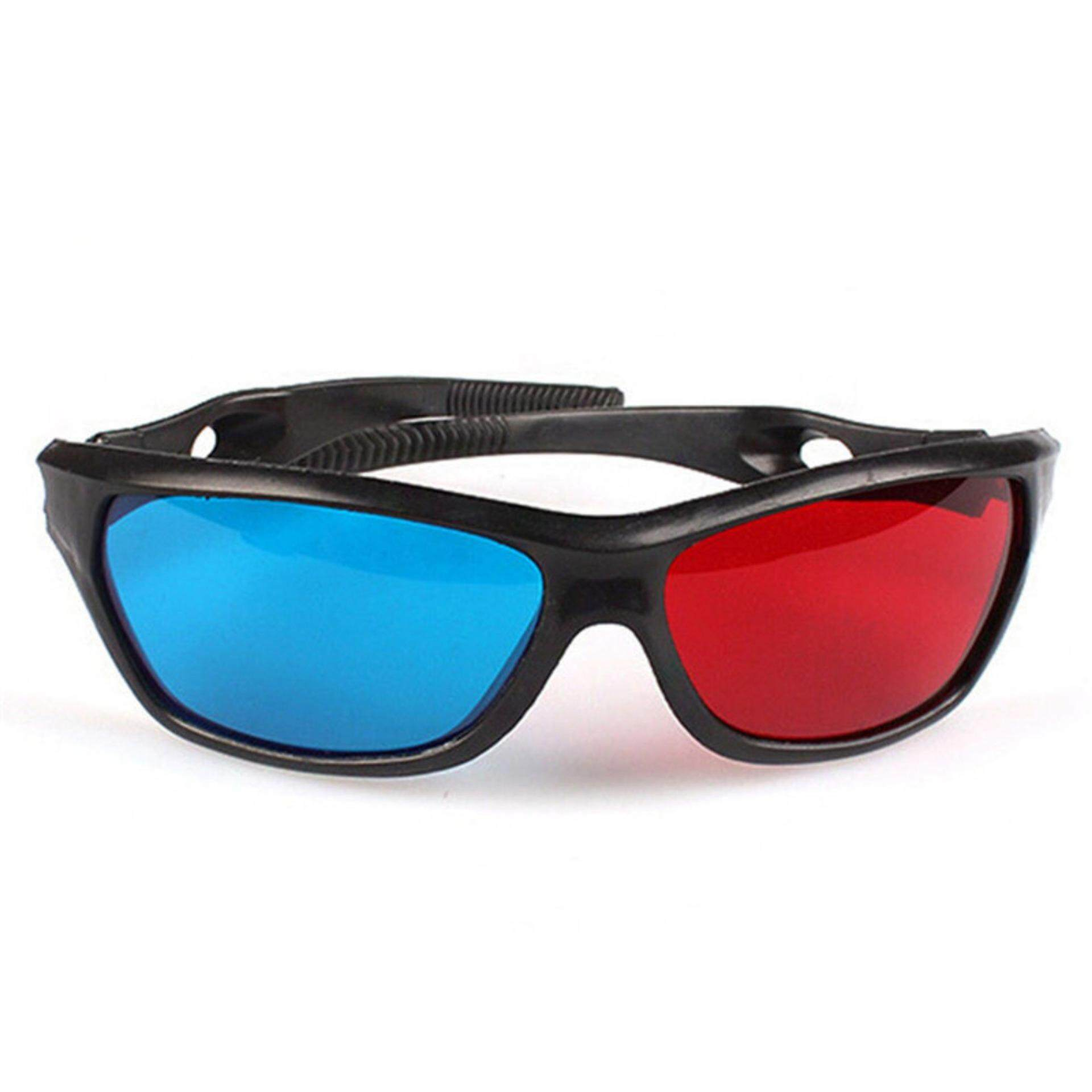 Black Frame Red Blue 3d Glasses For Dimensional Anaglyph Movie Game Dvd By Zozo Store.
