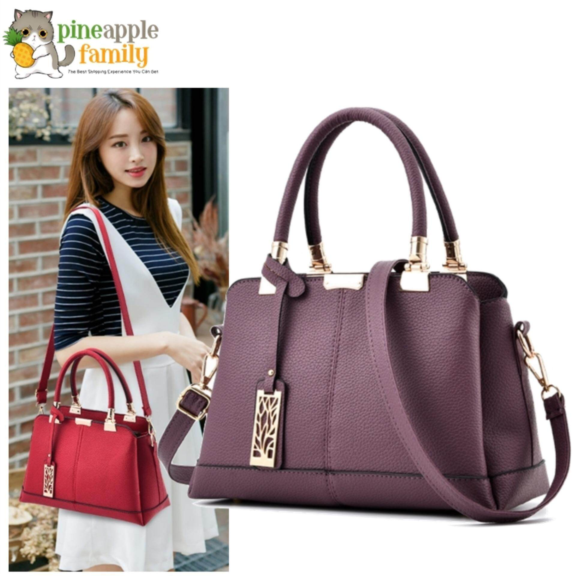 Malaysia Irati Pu Leather Elegant Style Tote Bag With Long Strap
