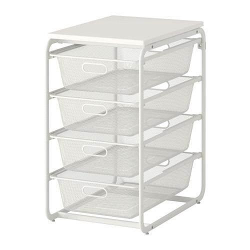 Algot Frame 4 Mesh Baskets Top Shelf White 991 787 11