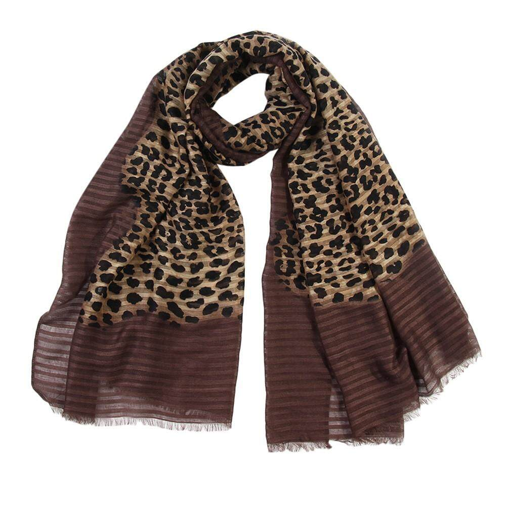 Free Shipping Naponie Women Leopard Printing Scarf Fashion Retro Female Multi-Purpose Shawl Scarf By Naponie.