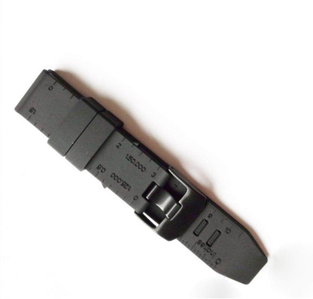 Fashion Black Rubber Silicone WatchBand With Rubber Strap Black Metal Buckle Bracelet for Luminox Watch Malaysia