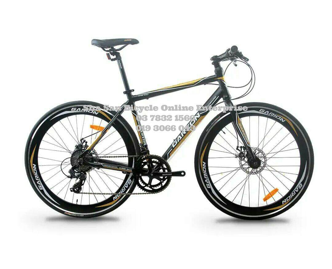 0% Sst 700c Hybrid Disc Break Garion Alloy 16 Speed Shimano Basikal Bicycle - Factory By Sha San Bicycle Online Enterprise (sa0337852-A).