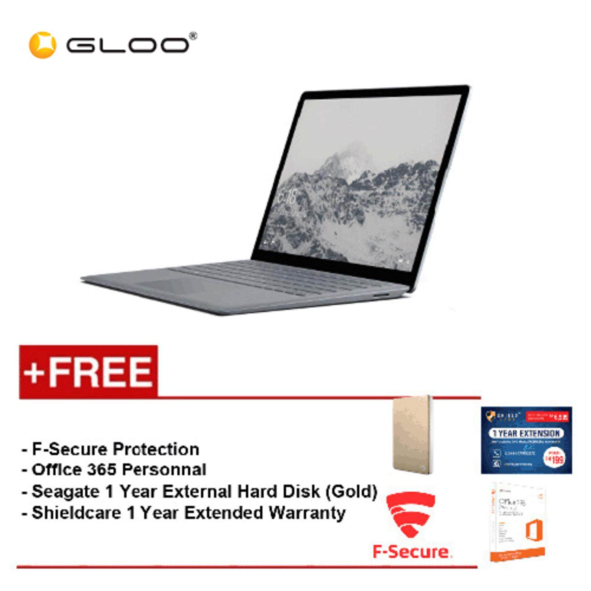 Surface Laptop Core i5/8GB RAM - 256GB + Shield Care 1 Year Extended Warranty + F-Secure End Point Protection + Office 365 Personal + Seagate 1TB Hard Disk Drive (Gold) Malaysia