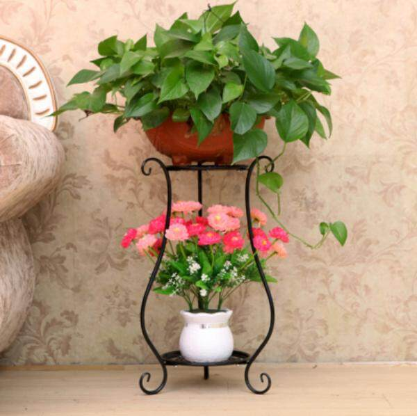Good life floor-standing wrought iron flower stand multi-level living room balcony green sage hanging orchid simple multi-function bonsai flower shelf