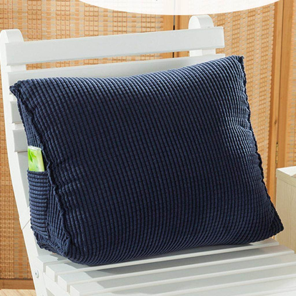 Dolity 2pcs Triangular Waist Cushion Lumber Pillow Back Support for Home Office Car