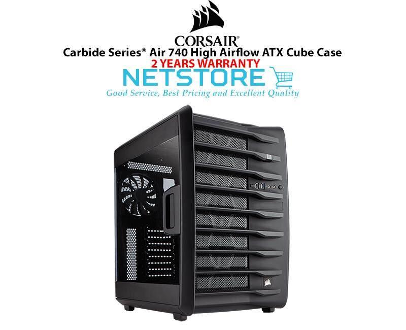 Corsair Carbide Series™ Air 740 High Airflow ATX Cube PC Case CC-9011096-WW Malaysia