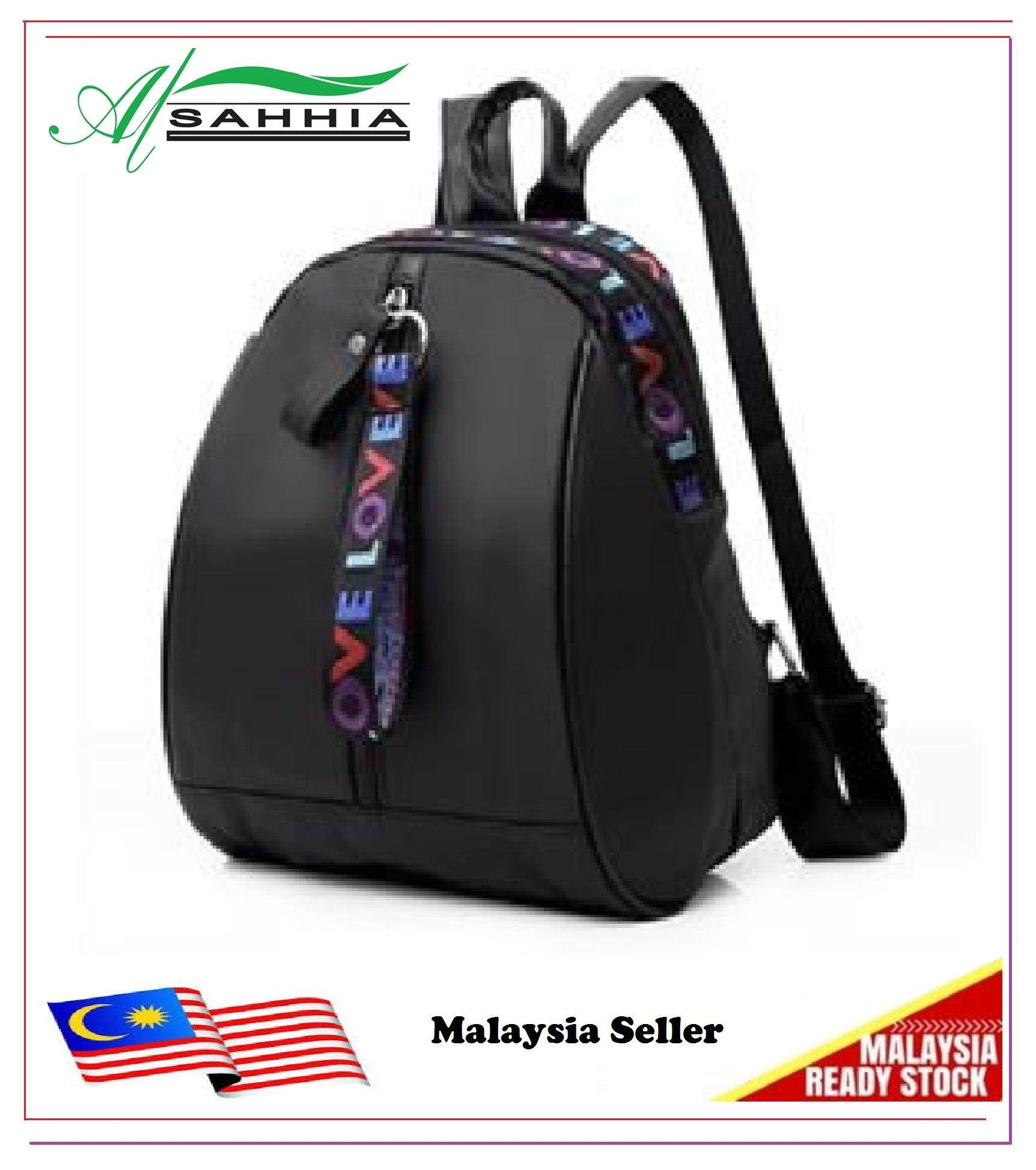 bdf50fcf18be Al Sahhia Ready Stock Fashion Women Nylon Backpack Waterproof Large Special  Zip
