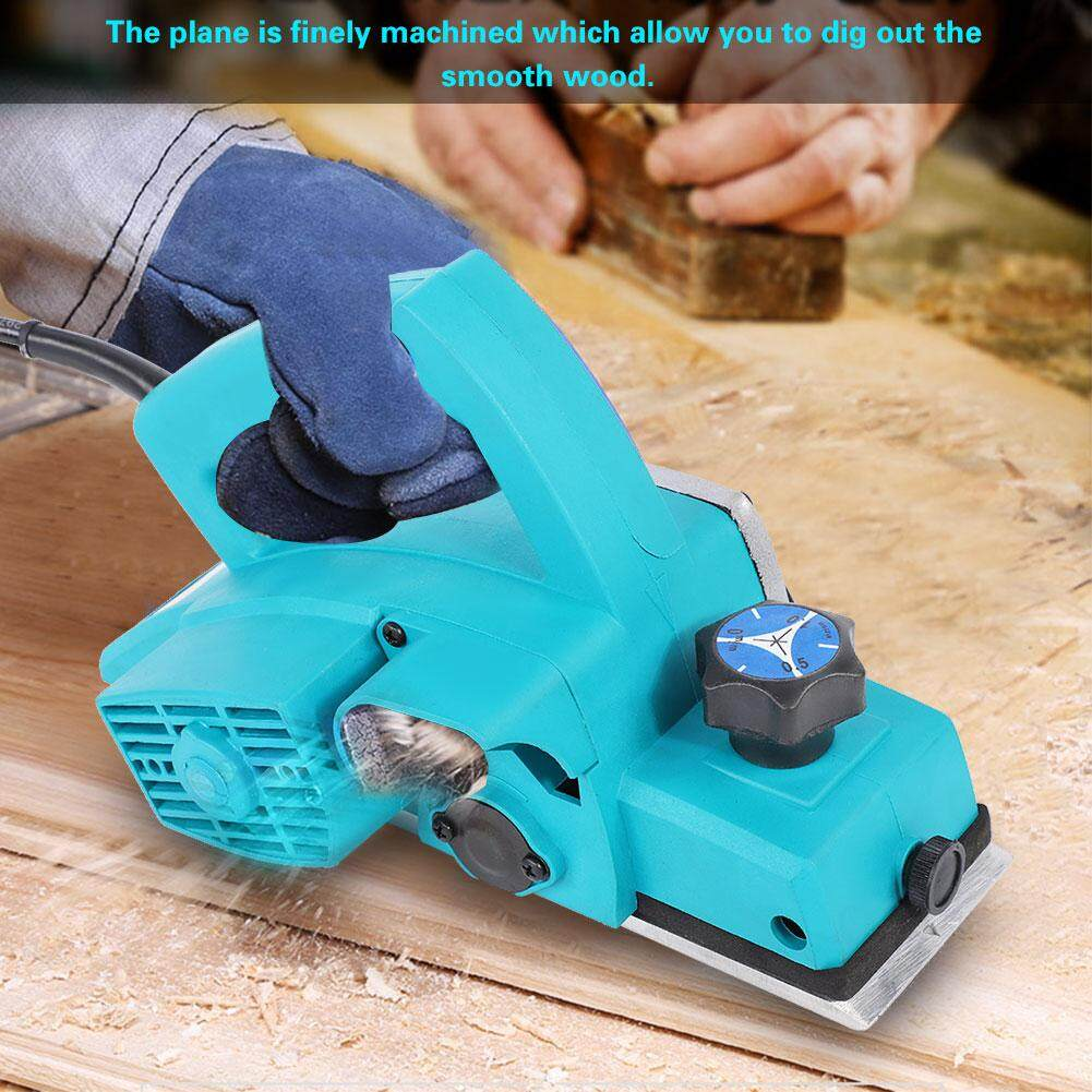 Multifunctional HandHeld Copper Wire Wood Electric Planer Woodworking Tool UK Plug 220V