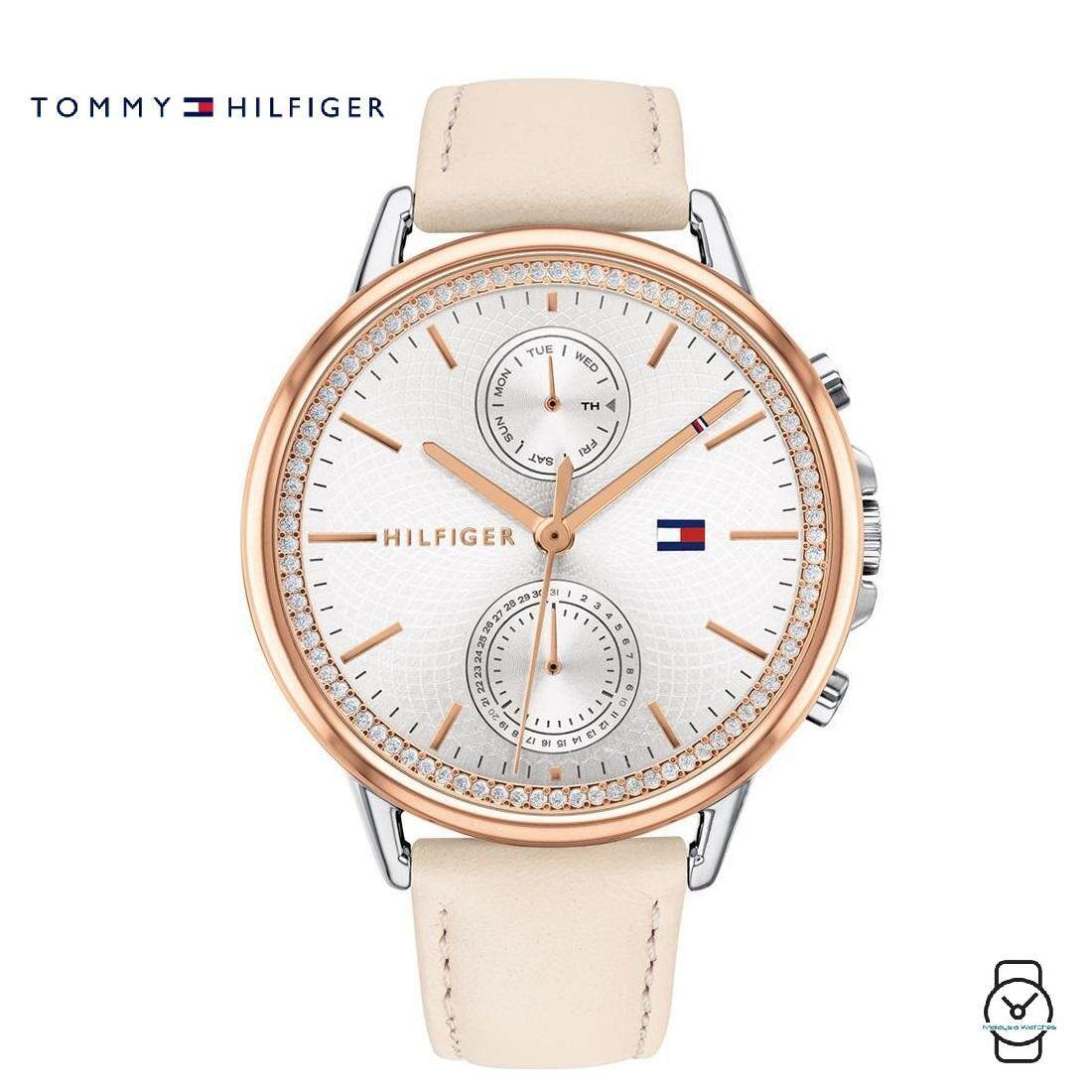 (100% Original) Tommy Hilfiger Womens 1781913 Carly Pink Leather Watch (Pink) Malaysia