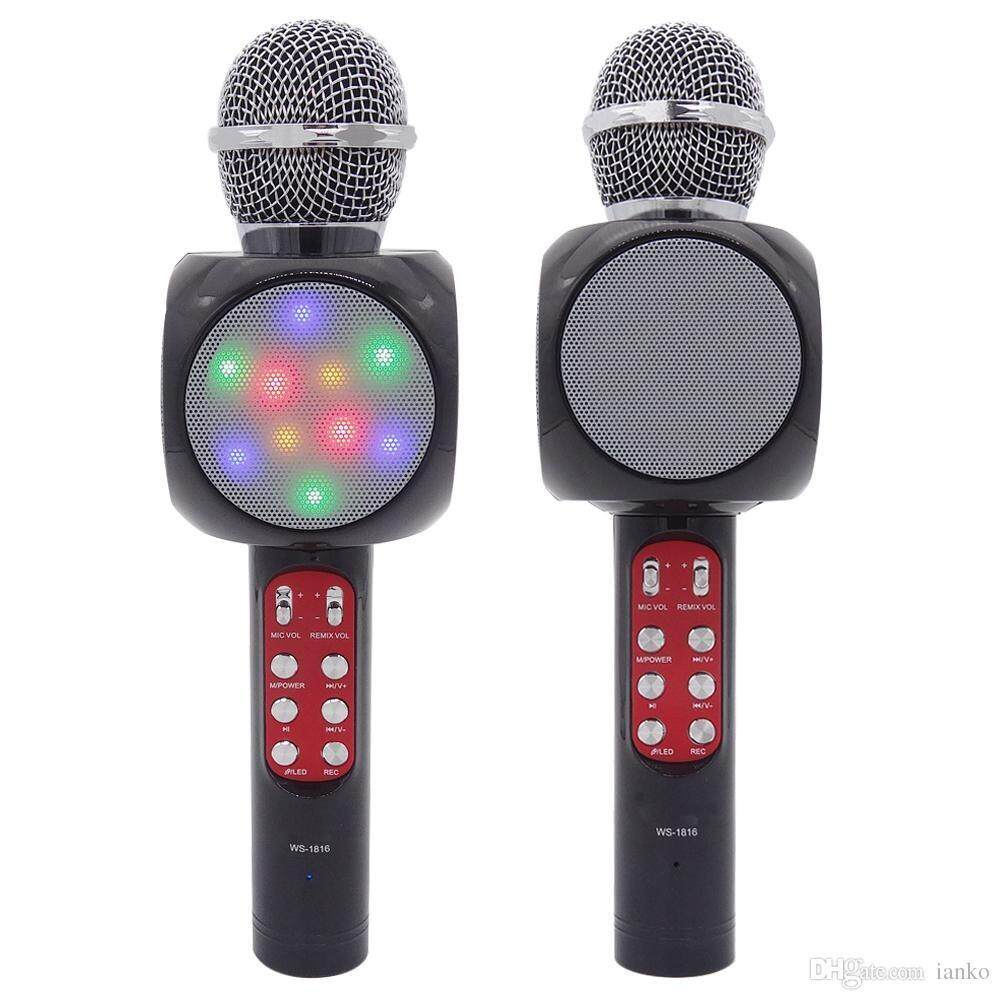 Live Sound Stage Microphones Buy Micgeek Ktv Q9 Bluetooth Wireless Microphone With Speaker Wster Ws 1816 Karaoke Key Voice Technology Kvt Mic Portable