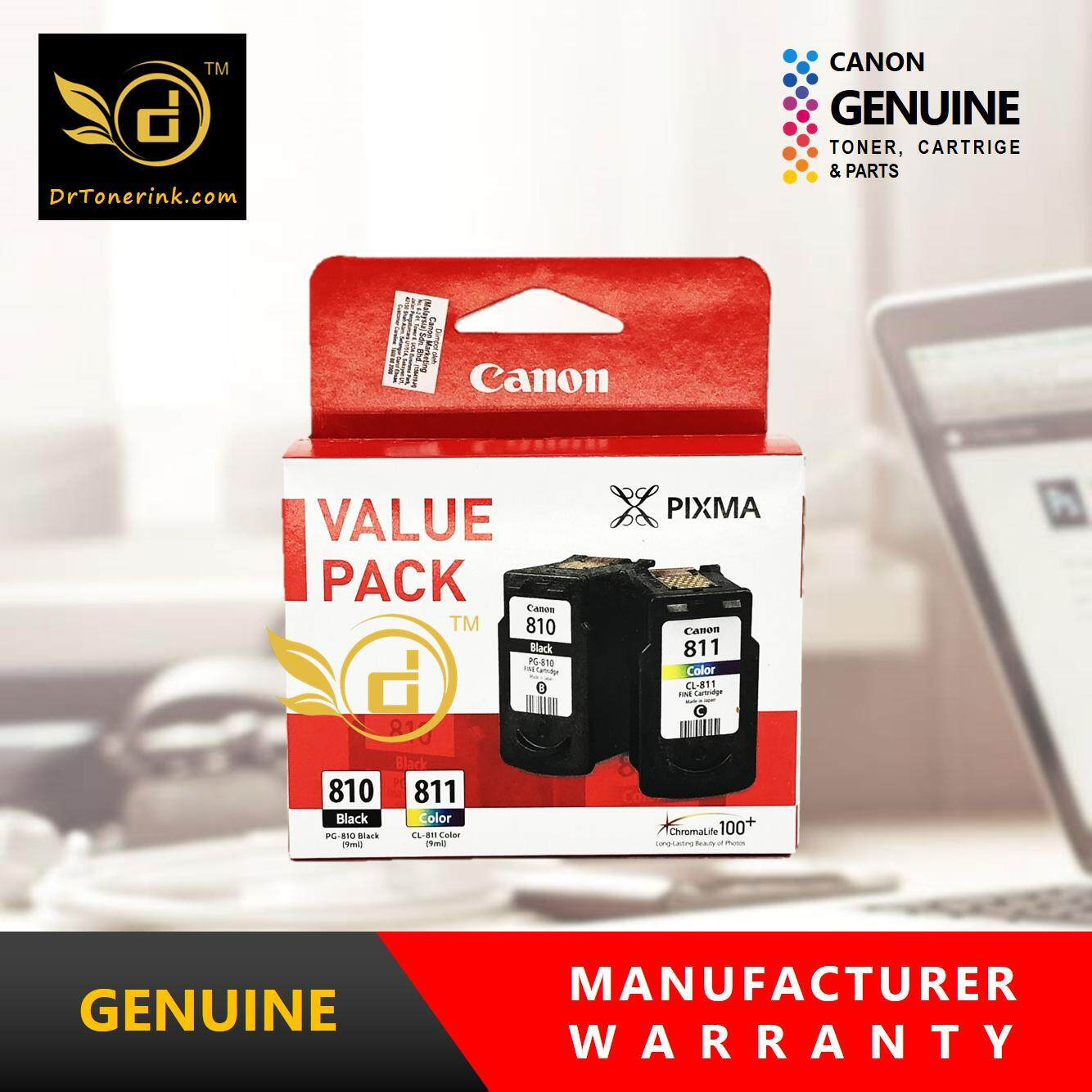 Canon Inkjet Printer Inks For The Best Prices In Malaysia Tinta 790 Cyan Ori G1000 G2000 G3000 Genuine Original Ink Value Pack Pg 810 9ml Cl 811