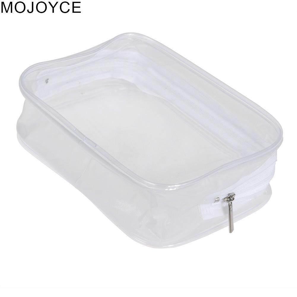 MOJOYCE Portable PVC Transparent Plastic Waterproof Zipper Cosmetic Bag
